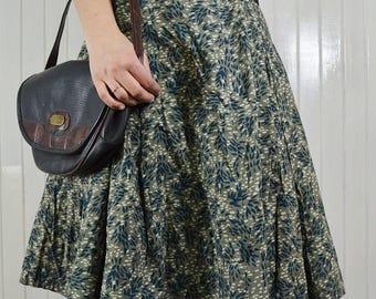 Skirt patterned print midi cotton vintage