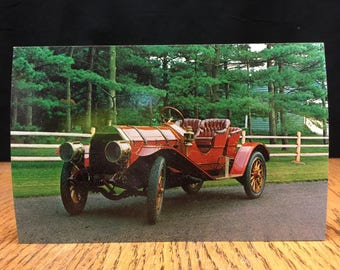 New old stock automobilia post card, 1910 Chadwick Type 19 Runabout
