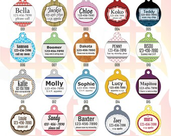 Round Shaped Custom Printed Pet Tags - Personalized Pet Tags - Custom Pet Tags - Dog Tags - Cat Tags - Round Shaped Pet Tags - Pet ID Tags