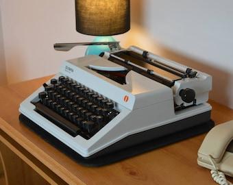 Typewriter Vintage Portable Olympia Regina DL Professional Service New Ribbon
