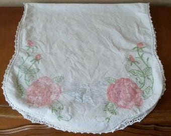 Vintage Unfinished Embroidery Table Runner