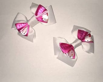 Set of White Bows with Hello Kitty Bow