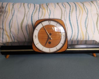 Mid-Century Modern Mantle Clock