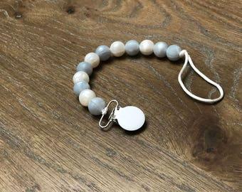 Pearl silicone clip ,pacifier clip
