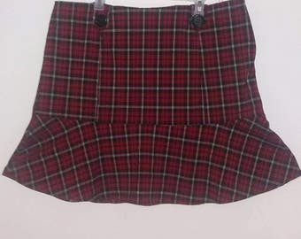 Plaid Skirt by Beware    size 2XL