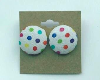 Polka Dot Button Earrings