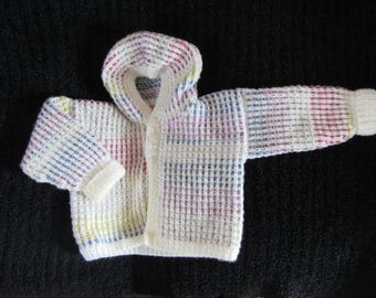 Baby Hooded Cardigan | Hand-Knitted | 0-12 Months
