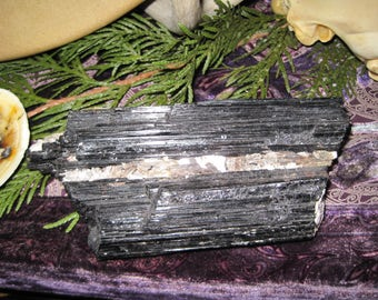 """REDUCED PRICE!!  Large Black Tourmaline with Mica 6-1/2"""" x 3"""" x 1-1/2"""""""