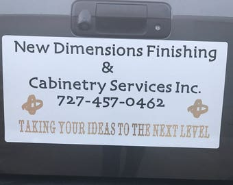 Custom Magnetic Vinyl Signs to Advertise Your Business, Weddings, Parties, Birthdays