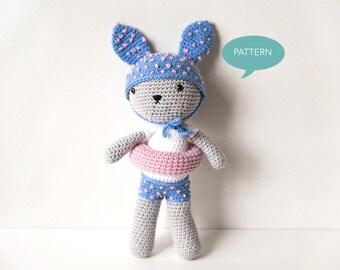 Crochet Amigurumi Bunny Pattern, Amigurumi Pattern Bunny Crochet Pattern, Bunny Amigurumi Pattern, Amigurumi Animal Crochet Pattern PDF