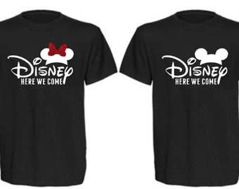 Disney Here We Come Kids Shirts, Disney Here We Come Youth Shirts, Disney Boys Shirt, Disney Girls Shirt, Disney Family Shirts, Disney Group
