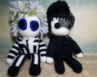 Crochet Beetlejuice and Lydia Deetz Inspired Doll