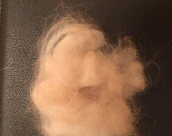 Lovingly Hand-Plucked Raw French Angora Wool