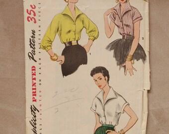 Vintage Rockabilly 1950's Blouse /Shirt Patterm
