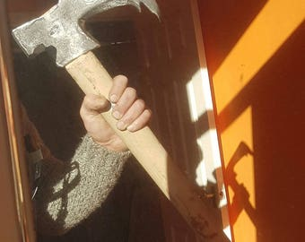 Hand forged Viking bearded axe