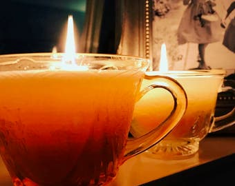 Eco Soya Scented Glass Teacup Candle