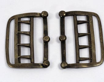 Antique Silver Men Neckwear Stock Buckle