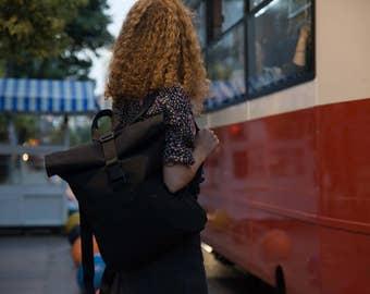 Handmade rolltop backpack