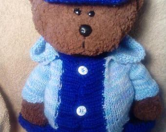 Knitted Teddy Bear tilde Michas