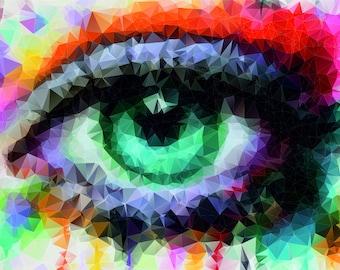 lowpoly eye