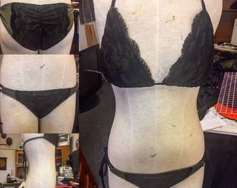 Lace Triangle Top and Tie Bottoms