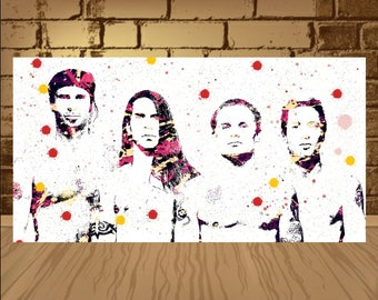 Red Hot Chili Peppers Poster,Red Hot Chili Peppers print, Red Hot Chili Peppers art,Home Decor, Gift Idea,Red Hot,RHCP,wall decor,art,poster