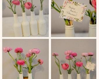 Bottle Flower Vases (order of 4+)
