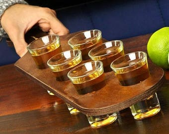"Handmade ""Shots Tray"" keep calm and drink"