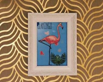 "Glamingo Flamingo Framed 5x7"" Print"