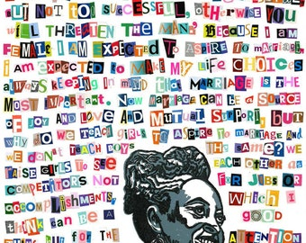 Chimamanda Ngozi Adichie Posters (Badass Quotes By Badass Women Collection)