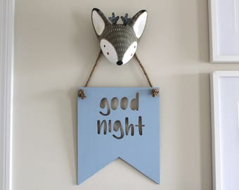 Goodnight - Gift for New Mom to Be - Rustic Nursery Signs - New Baby Gift for Mom - Nursery Hanging Decor Signs - Hanging Wooden Signs