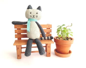 Crochet Pattern Miguelito the cat amigurumi PDF