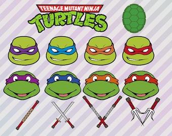 Ninja Turtles SVG Clipart, Ninja turtles Clipart, Dxf cut files, TMNT svg, Teenage mutant Ninja Turtles svg, Cricut files, Silhouette came