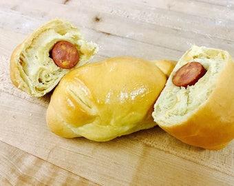 10 Fresh baked jumbo jalapeno sausage rolls!!!!