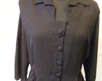 Women's 50s Linen Jacket