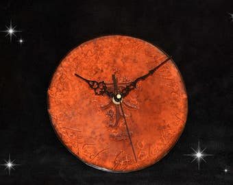 Tolkien, Lord of the rings leather clock.