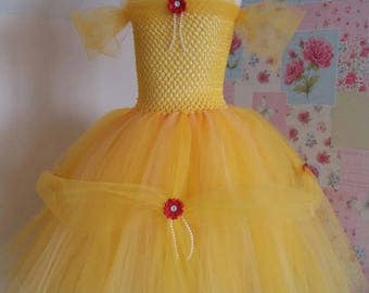 Beauty & the Beast inspired tutu. Belle costume age 3 to 5.