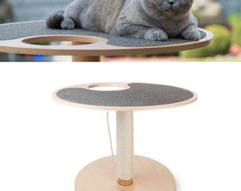 MYMIU design Cat Scratch tree with stand - Extensible scratch element with sisal rope game