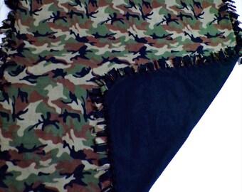 Camouflage Fleece Blanket