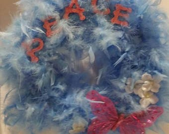 Feather Peace Wreath