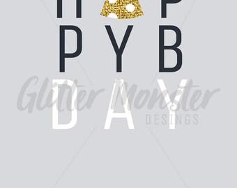 Simple Happy Birthday Card 02- 1