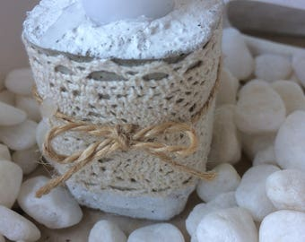 DIY concrete candle holder with tip