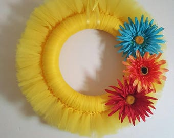 Spring wreath will brighten up your door.