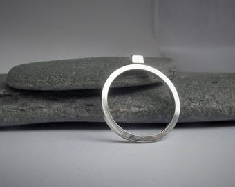 Stacking Silver Ring, Sterling Silver Rectangle Ring, Brick Stacking Ring, Geometric Stacking Ring, Minimal Ring, Minimalist Ring, Everyday