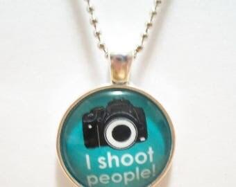 I Shoot People Camera Pendant Necklace SC532