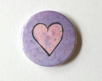 Heart pin badge