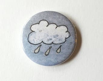 Cloud pin badge