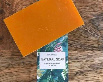 Handmade Citrus Lavender Soap, Organic Ingredients