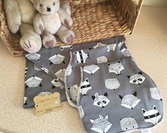 Fox On The Run Nappy Wallet and Set of 2 Butp Clothes