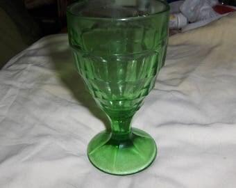"green ""Block Optic"" 10 oz. goblet"